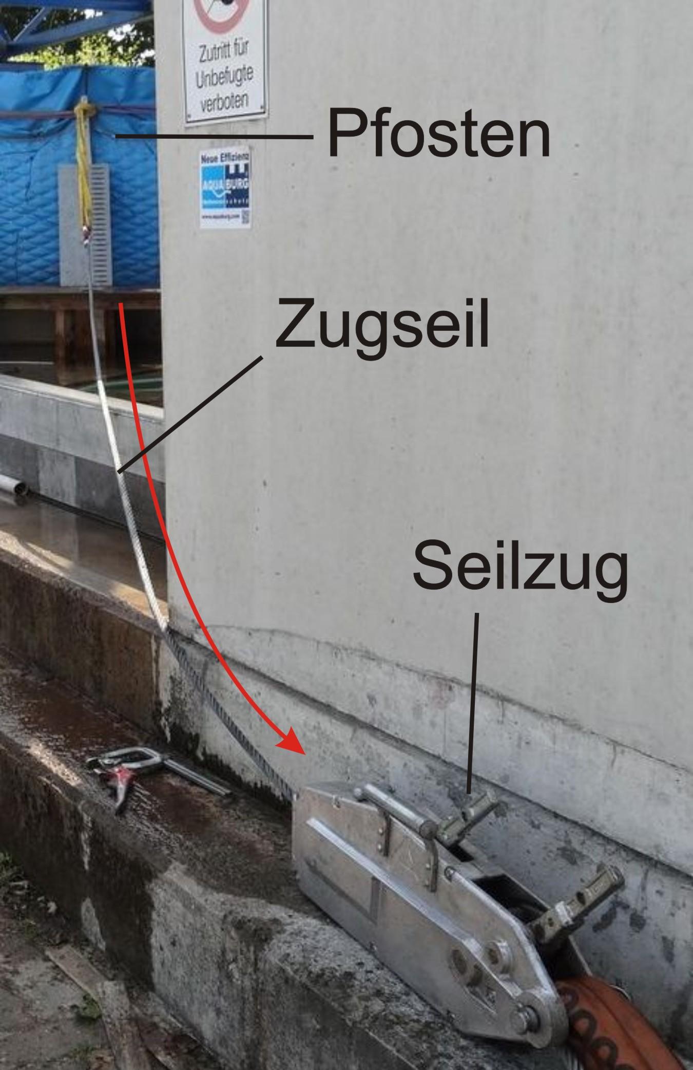 aquaburg-aktuelles-extremtest-extrembelastung-pfosten-mit-Zugseil
