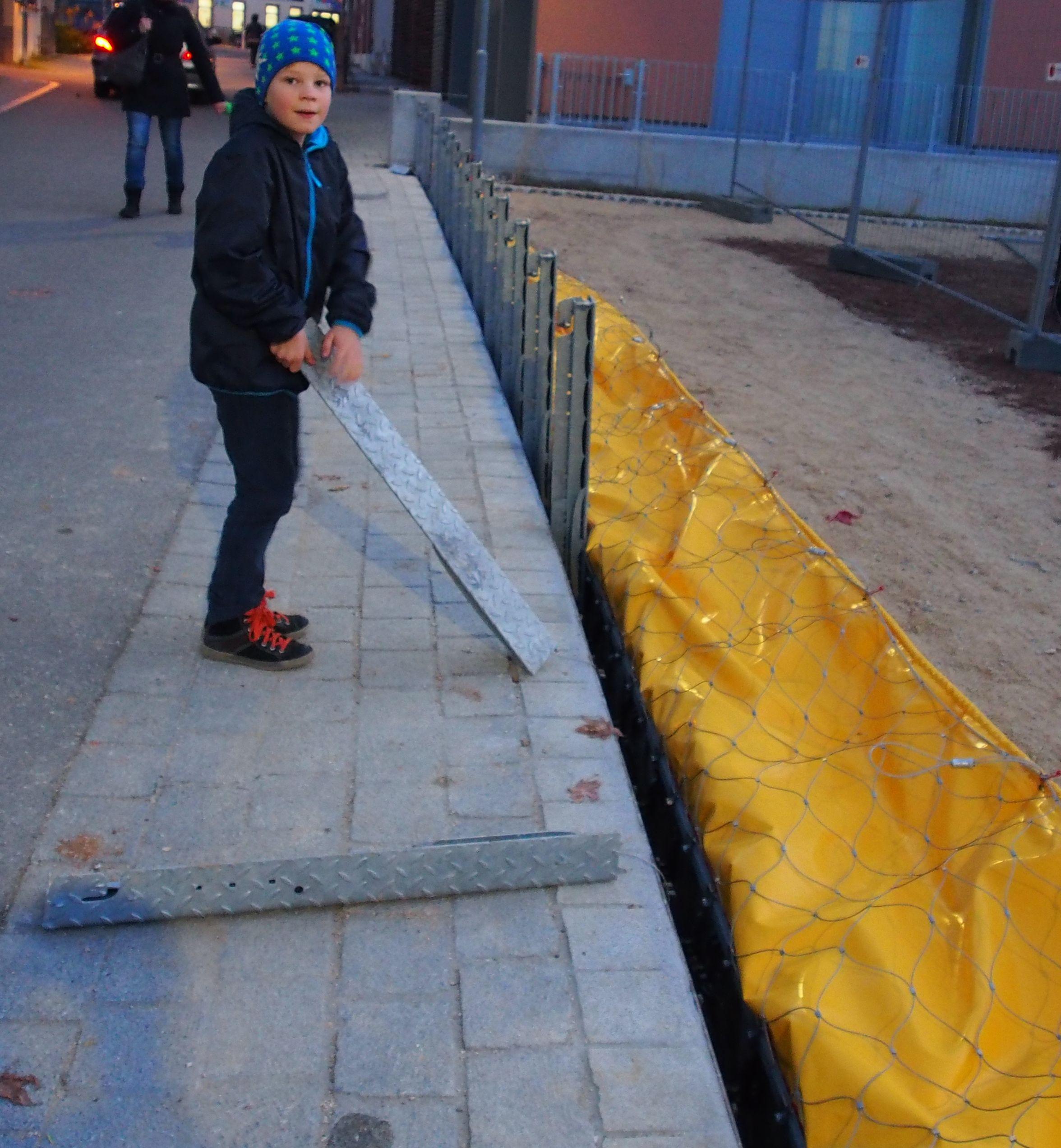 mobiler Hochwasserschutz, von Jedermann aufzubauen