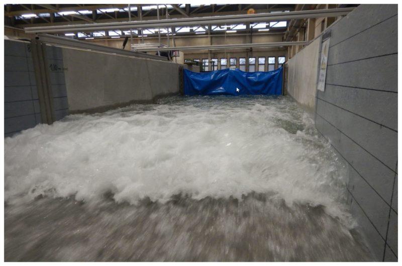 Die AquaWand in der Testanlage der RWTH Aachen