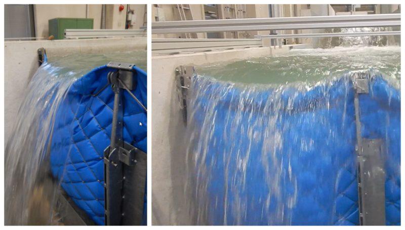 Überflutungs-Test der AquaWand