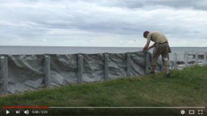 Video mobiler Hochwasserschutz  die AquaWand70 an der Ostsee