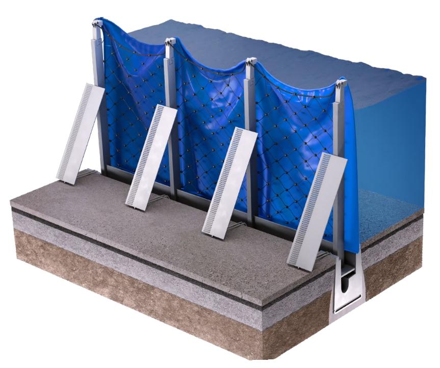 3 D Darstellung der aufgebauten AquaWand200