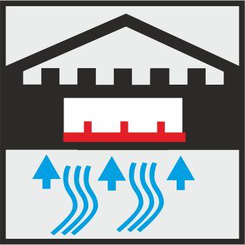 Icon mobiler Hochwasserschutz in einer großen Öffnung