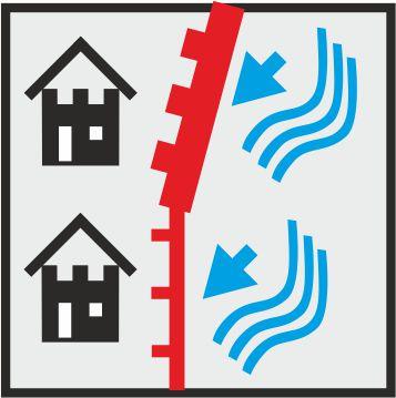 Icon verschiedene mobile Hochwasserschutzwände