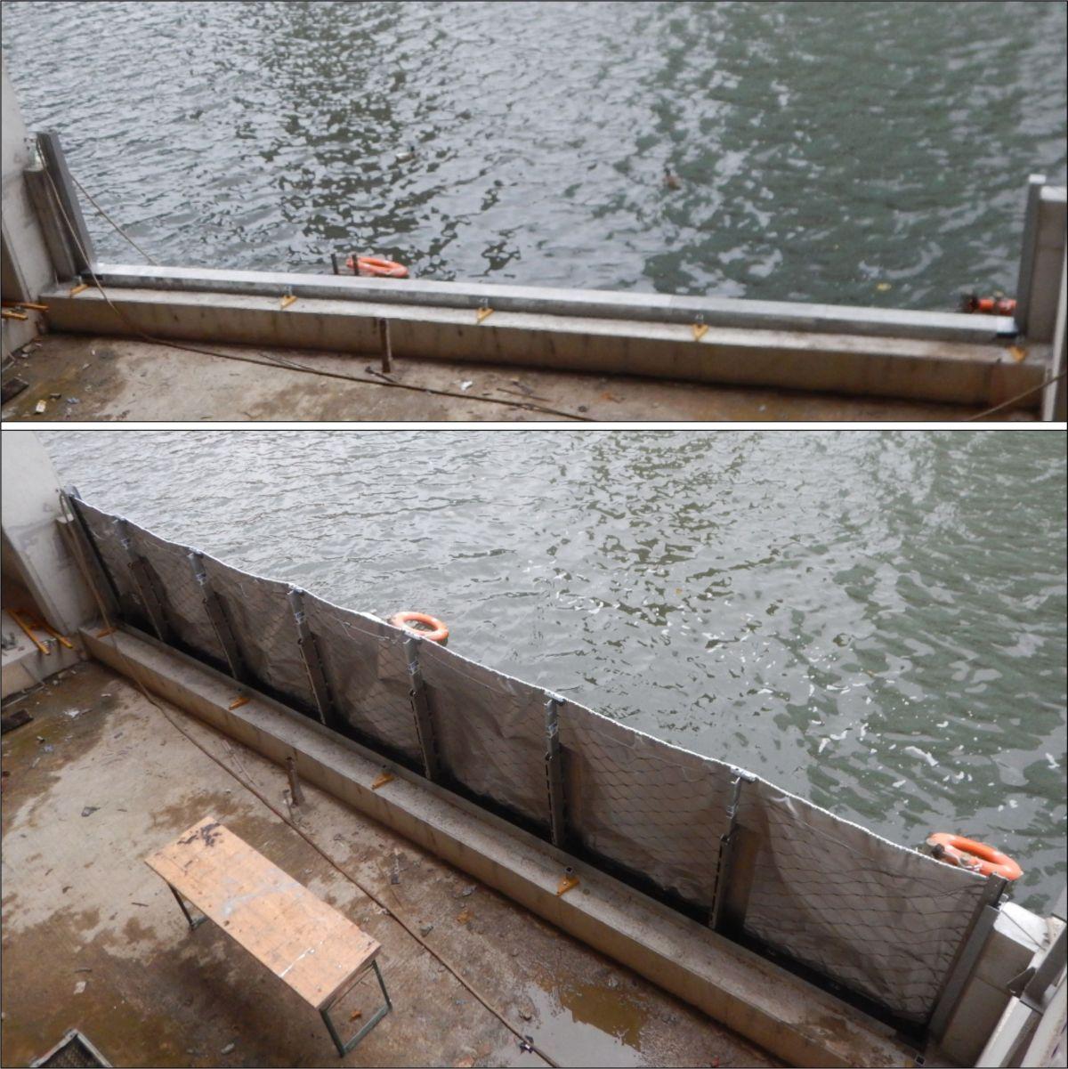 Bilder: Die AquaWand ist in dem Gebäude installiert