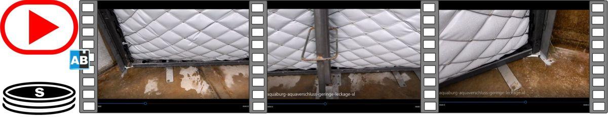 Film Leckagetest an dem AquaVerschluss in dem Versuchsbecken der TUHH
