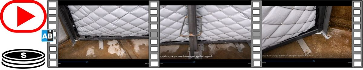 Film leakage test on the AquaVerschluss in the TUHH test basin