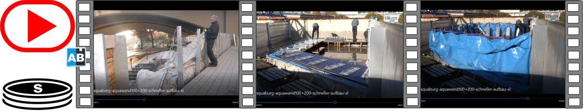 Film in Zeitraffer, schneller Aufbau der AquaWand140, schneller Aufbau der AquaWand200