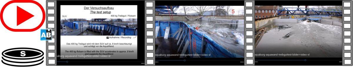 Film von einem Treibgutanprall in Bildern und Videos in der Versuchsanlage der TUHH