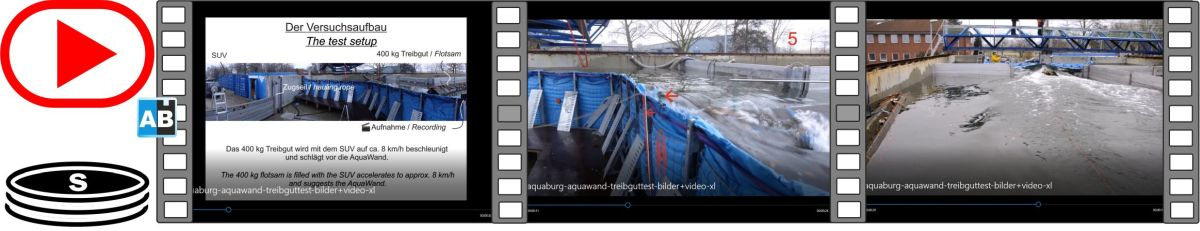Film of a flotsam impact in pictures and videos in the TUHH's test facility