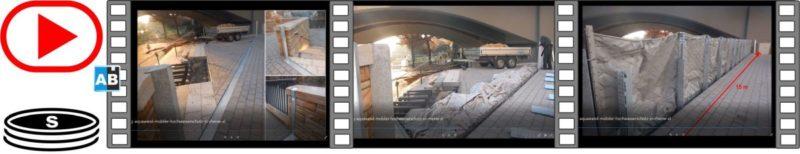 Aquaburg Video Aquawand mobiler Hochwasserschutz in Rheine 40s