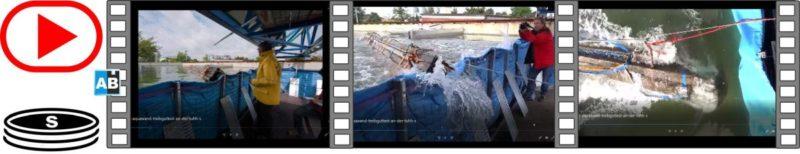Aquaburg Video Aquawand Treibguttest von oben und der Seite an der TUHH 46s