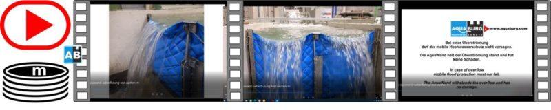 Aquaburg Video Aquawand Überflutungstest RWTH Aachen 17s