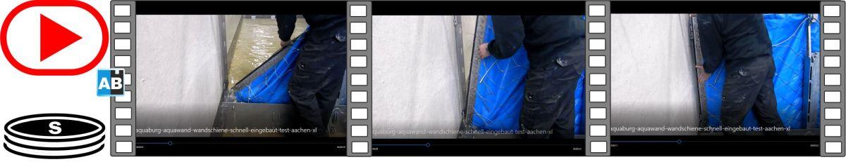 Film vom Ein- und Abbau der Wandschiene in der Versuchshalle der RWTH Aachen