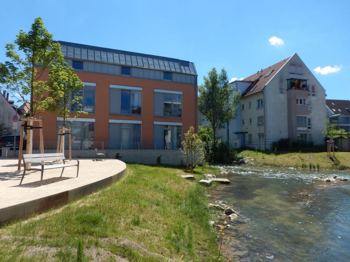 Bild: ein Bach in Kirchheim unter Teck