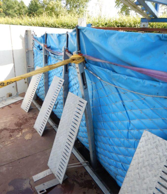 Aquaburg Extremtests auf den Pfostenkopf
