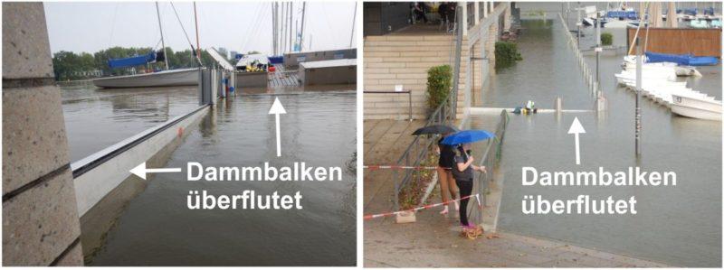 Dammbalken zu spät aufgebaut und überflutet