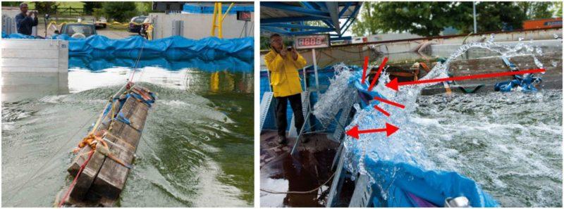 Treibgutanprall auf die AquaWand