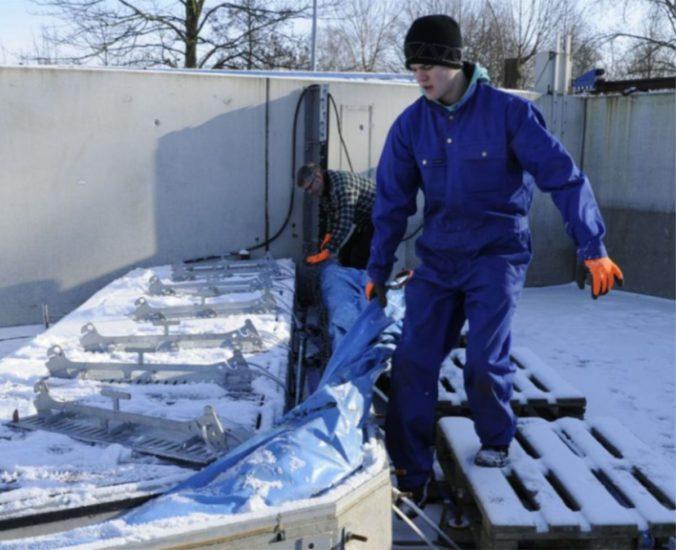 Aquaburg neue Anforderungen beim Winteraufbau