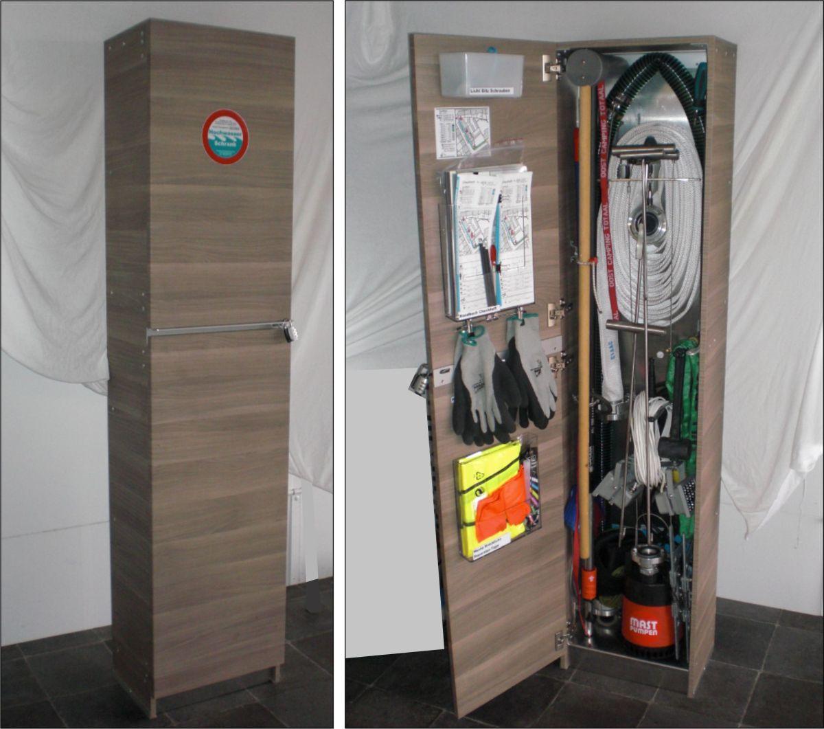 Lagerschrank für Werkzeug, Pumpe und Extras