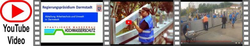youtube Video ein Dammbalkensystem wird aufgebaut